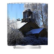 Old Church In Ice Shower Curtain