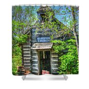 Old Church In The Woods Shower Curtain