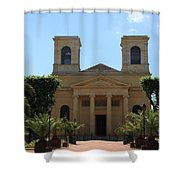 Old Church - Macon - Burgundy Shower Curtain