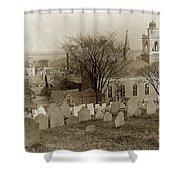 Old Church's Cemetery Graveyard Boston Massachusetts Circa 1900 Shower Curtain