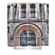 Old City Jail Entrance Shower Curtain