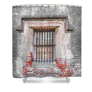 The Old City Jail Window Chs Shower Curtain