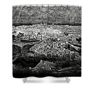 Old City Of Toledo Bw Shower Curtain