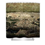 Old City Of Toledo Shower Curtain