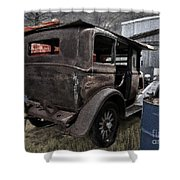 Old Classic Car Shower Curtain