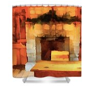 Old Classroom And Desk Shower Curtain