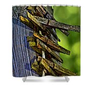 Old Clothes Pins I Shower Curtain
