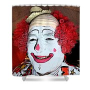 Old Clown Backstage Shower Curtain