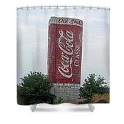 Old Coke Silo Shower Curtain