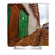 Old Colonial Street Corner Shower Curtain