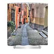 Old Colorful Stone Alley Shower Curtain