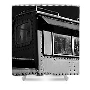 Old Copula Bw Shower Curtain