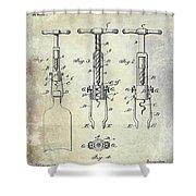 Corkscrew Patent Shower Curtain
