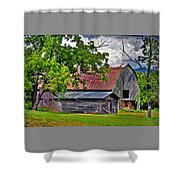 Old Country Barn Shower Curtain