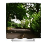 Old Country Road - Peak District - England Shower Curtain