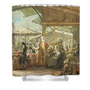 Old Covent Garden Market Shower Curtain by George the Elder Scharf