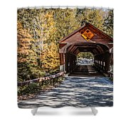 Old Covered Bridge Vermont Shower Curtain