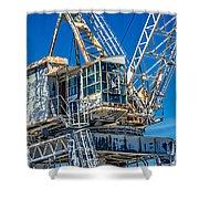Old Crane  Shower Curtain
