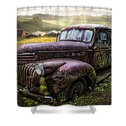 Old Dairy Farm Truck Shower Curtain