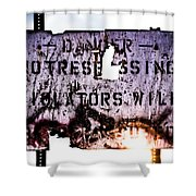 Old Danger Shower Curtain by Bob Orsillo
