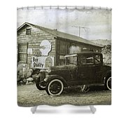 Old Desert Model A Shower Curtain
