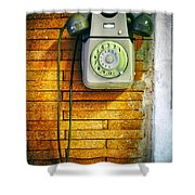 Old Dial Phone Shower Curtain
