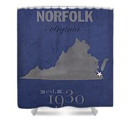 Old Dominion University Monarchs Norfolk Virginia College Town State Map Poster Series No 085 Shower Curtain