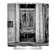 Old Door - Bw Shower Curtain