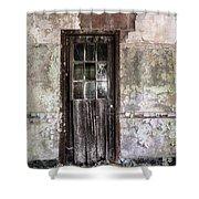 Old Door - Abandoned Building - Tea Shower Curtain