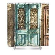 Old Door In Jersusalem Israel Shower Curtain