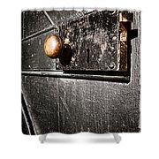 Old Door Lock Shower Curtain
