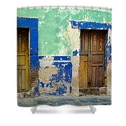 Old Doors, Mexico Shower Curtain