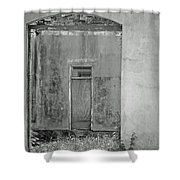 Old Doorway Bw Shower Curtain