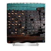 Old Drawers Shower Curtain