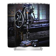 Old Drill Press Shower Curtain