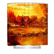Old Dutch Farm Shower Curtain