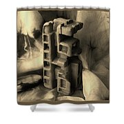 Old Dwellings Shower Curtain by Barbara St Jean