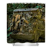 Old Engine Now Rust Shower Curtain