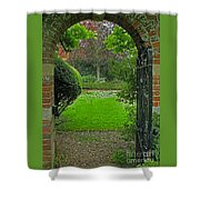 Old English Garden Shower Curtain