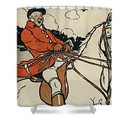 Old English Sports And Games Hunting Shower Curtain