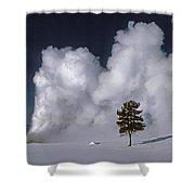 3m09137-02-old Faithful Geyser 2 Shower Curtain