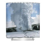 Old Faithful In Her Glory - Yellowstone Shower Curtain