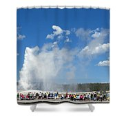 Old Faithful. With Thanks To Lee Shower Curtain