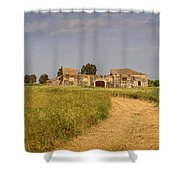 Old Farm - Barn Shower Curtain