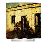 Old Farm Building Shower Curtain