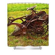 Old Farm Equipment Hardin Montana Shower Curtain