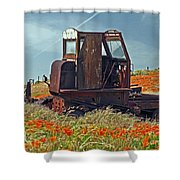 Old Farm Equipment Shower Curtain