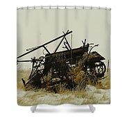 Old Farm Equipment Northwest North Dakota Shower Curtain by Jeff Swan