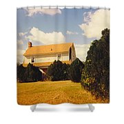 Old Farmhouse Landscape Shower Curtain