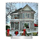 Old Fashioned Christmas Shower Curtain